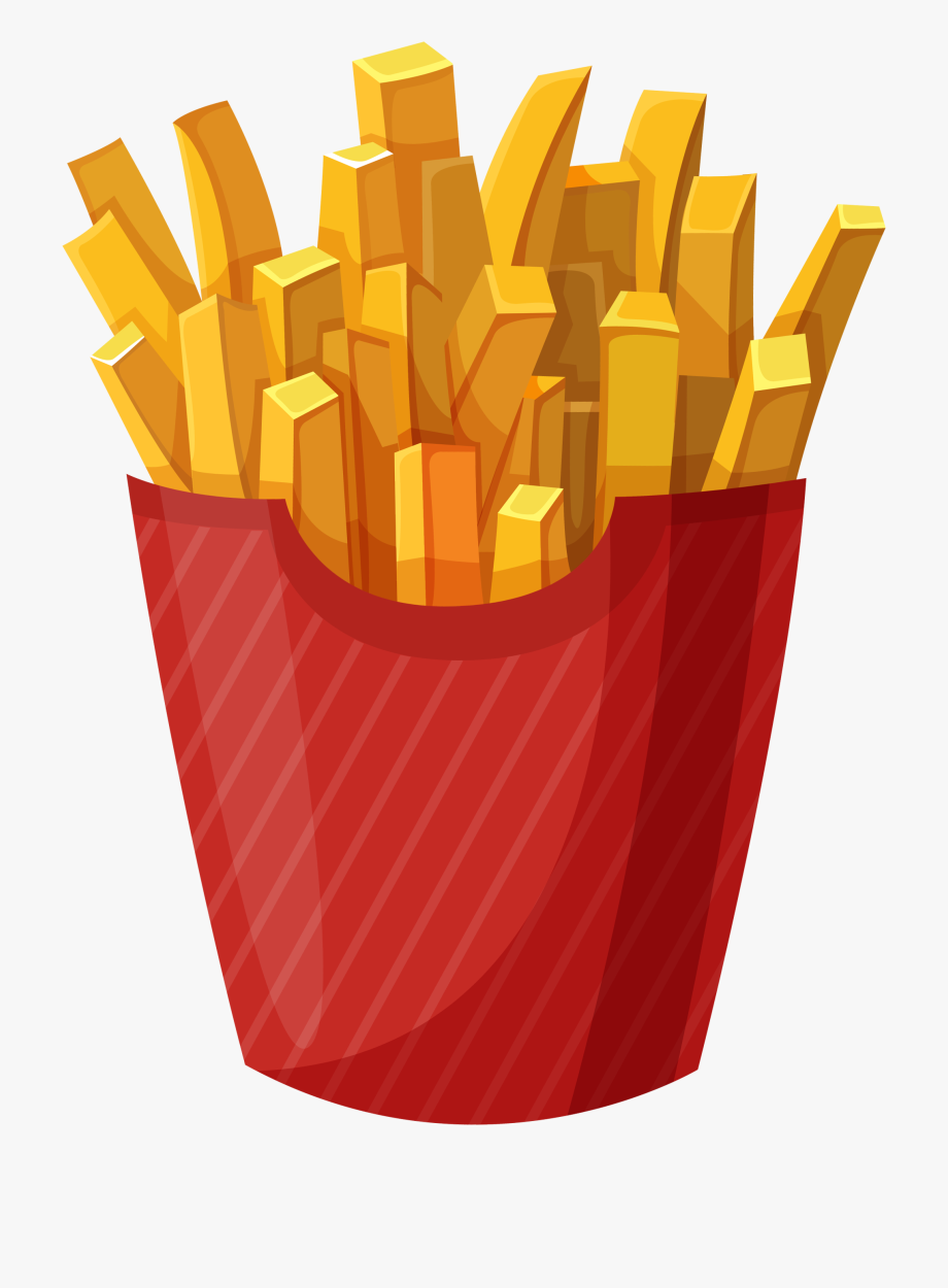 Fries clipart deep fried. Plate of french clip