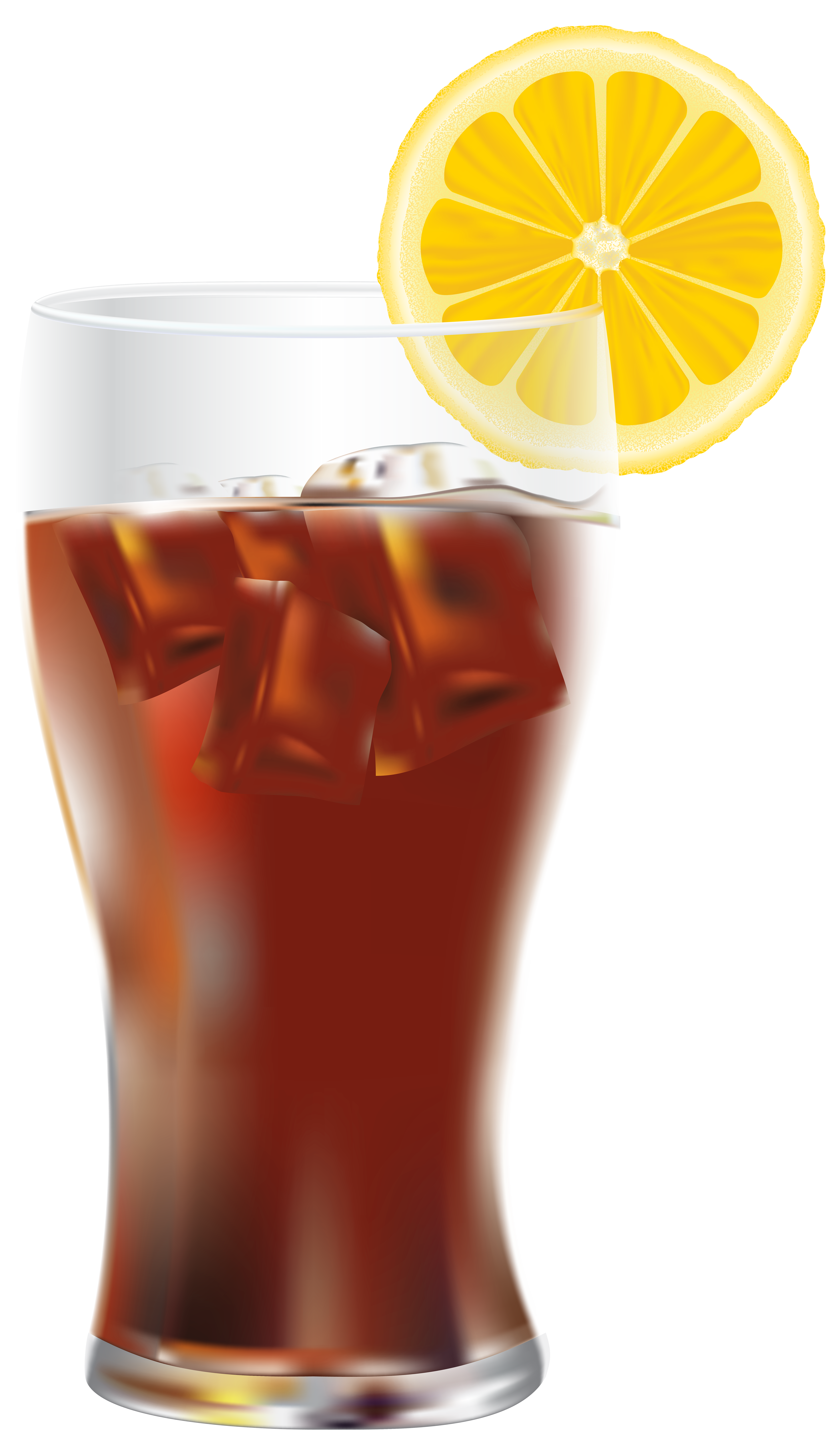 Drink clipart ice drink. Cola with and lemon