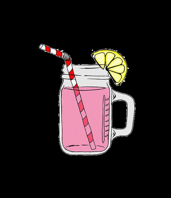 Pink girls cute tumblr. Drink clipart kawaii