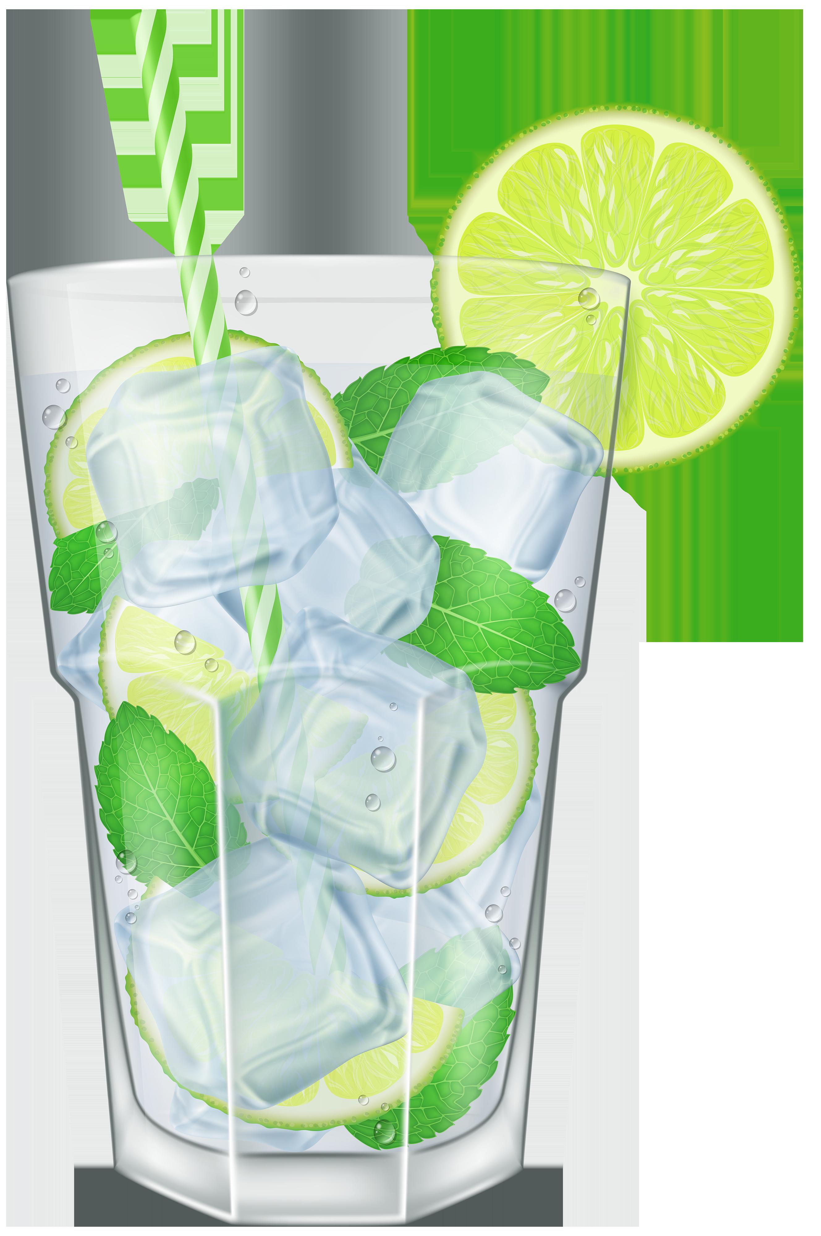 Mojito vodka tonic limeade. Drinks clipart lime juice