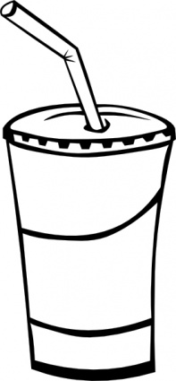 Drinks clipart outline. Drinking black and white