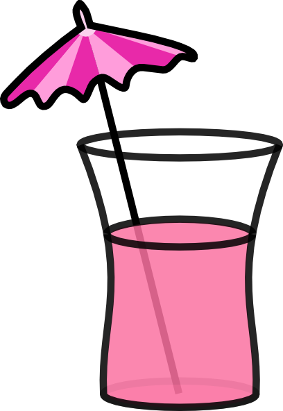 Cocktail clip art at. Drink clipart pink drink