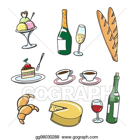 Eps vector popular french. France clipart food