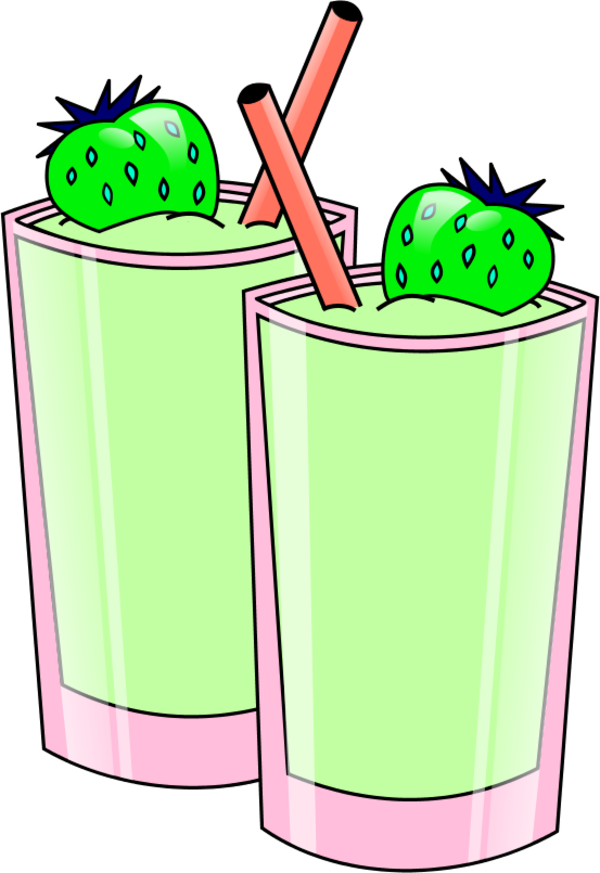 Drinks clipart smoothie. Strawberry vector clip art