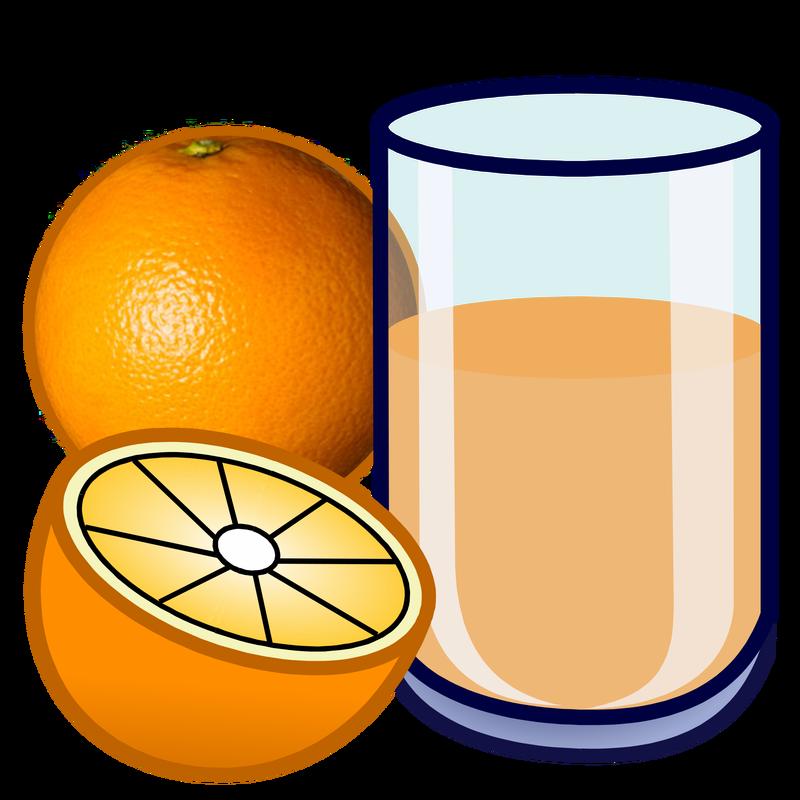 collection of orange. Juice clipart milk juice