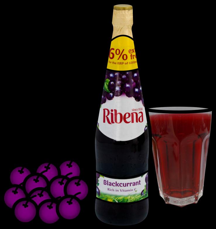 Ribena blackcurrant rich in. Drink clipart squash drink