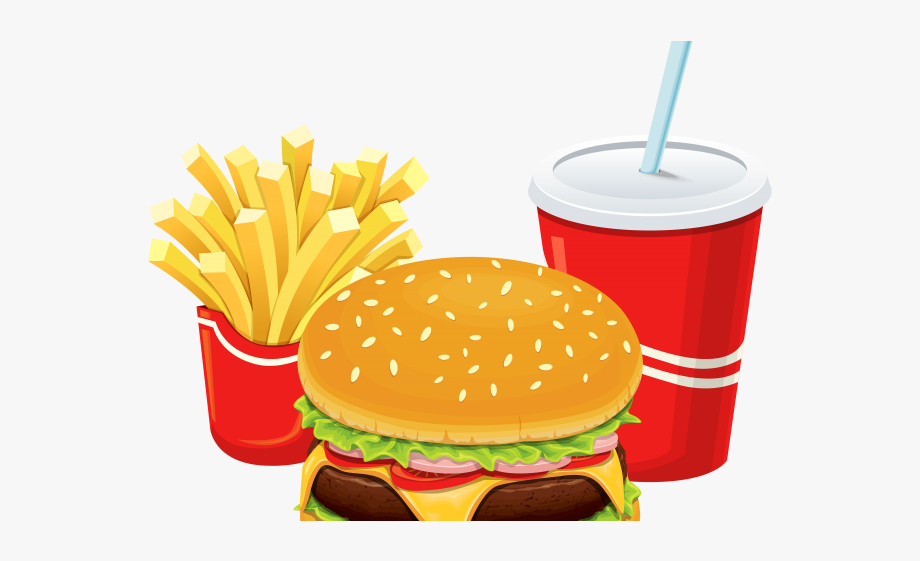 Junk food unhealthy diet. Meal clipart burger meal