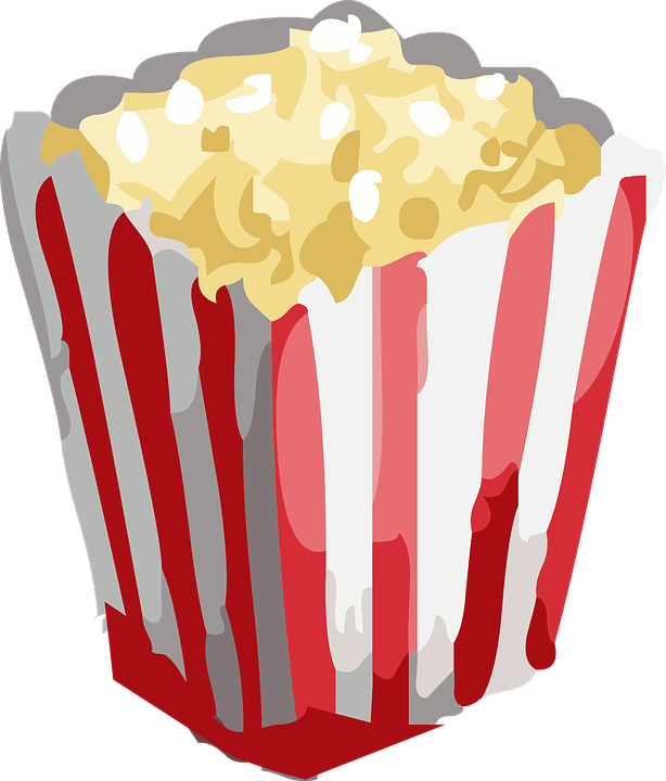 Movie theater and drinks. Flour clipart salty food