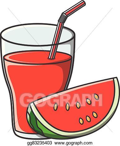 Vector art juice doodle. Watermelon clipart watermelon drink
