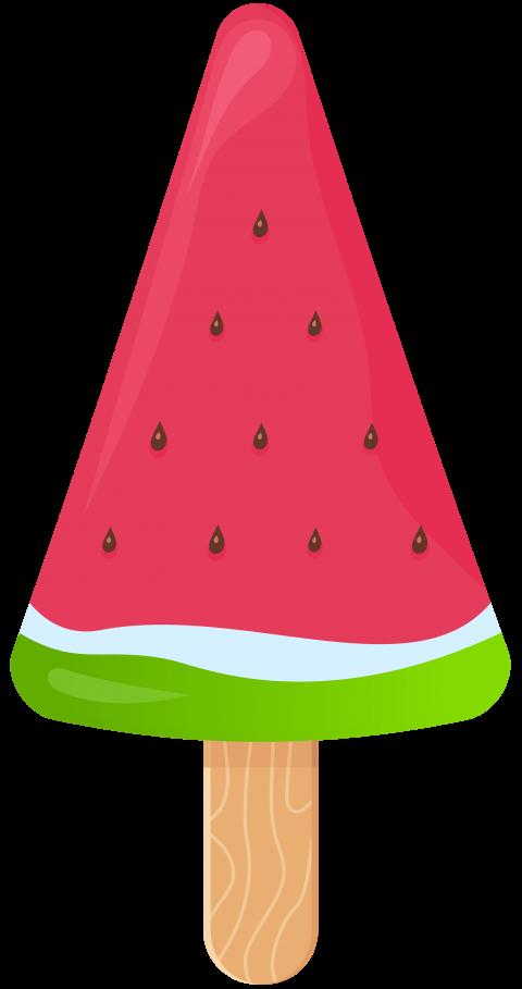 Watermelon clipart watermelon slice. Ice cream stick png
