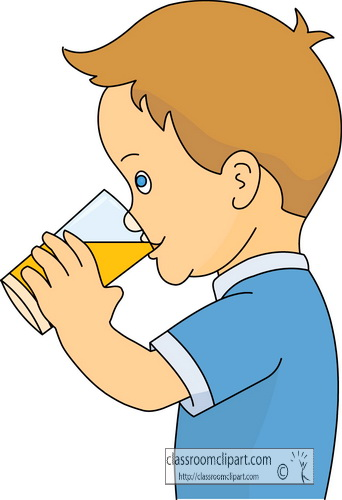 Boy . Drinking clipart