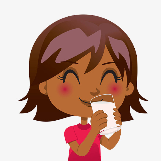 The little girl in. Drinking clipart