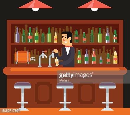 Pub restaurant cafe barkeeper. Drinking clipart bar menu