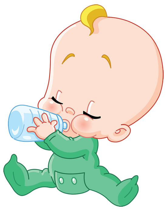 Milk infant drinking bottle. Nut clipart baby