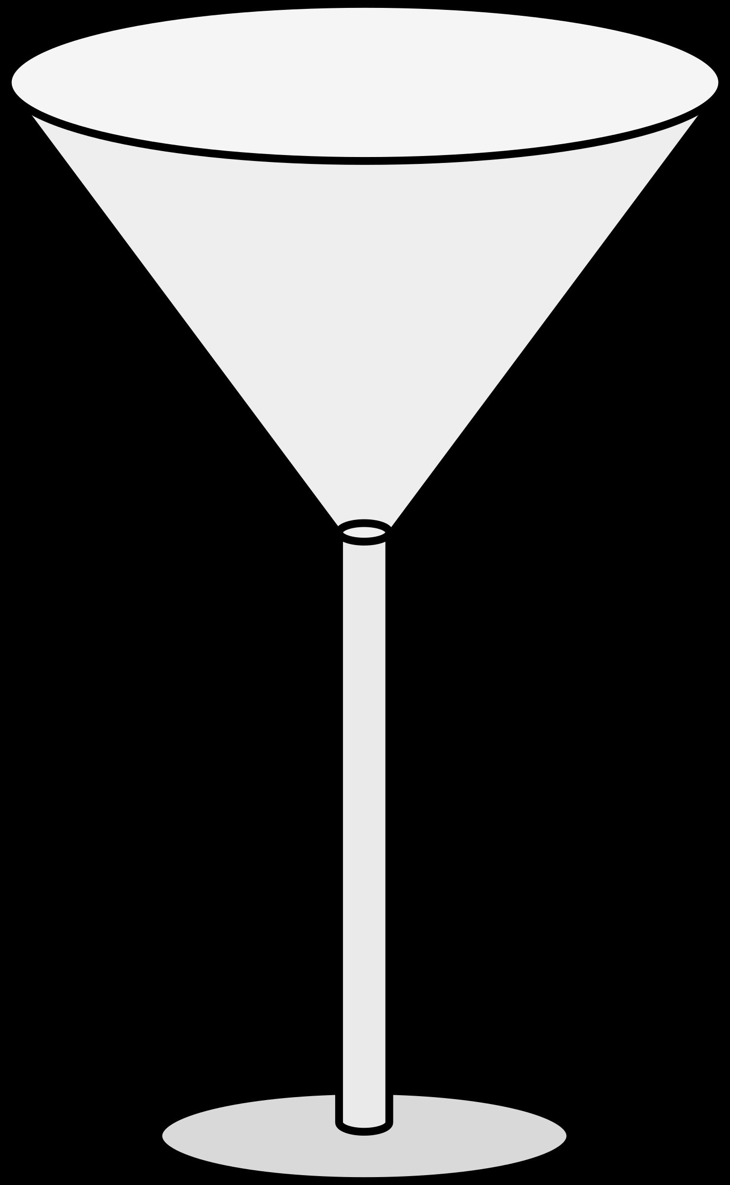 Drinking clipart champagne. Empty martini glass big