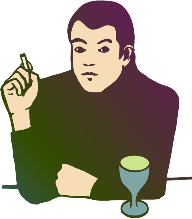 Smoking and how to. Drinking clipart drinker