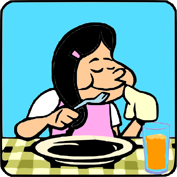 Finishedeating clip art at. Drinking clipart food