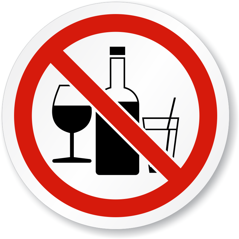 collection of sign. Drinking clipart no alcohol