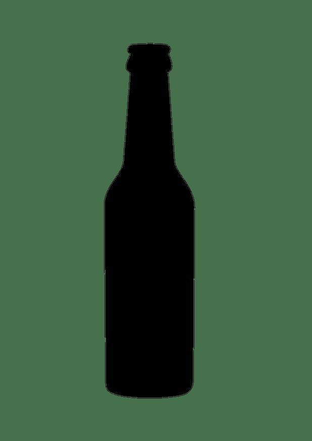 Black cartoon beer bottle. Drinking clipart outline