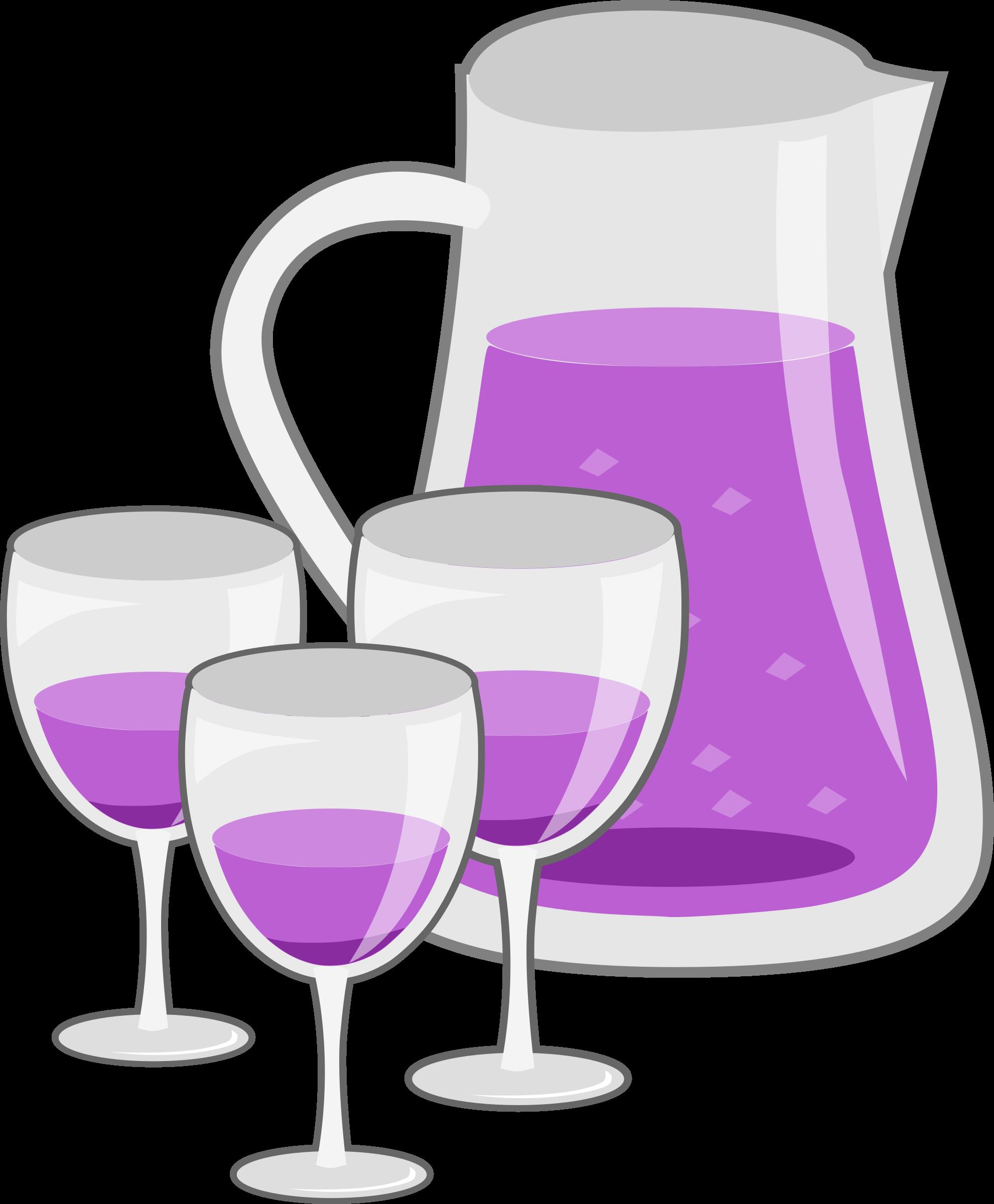 Drinking clipart purple wine. Drinks pitcher big image