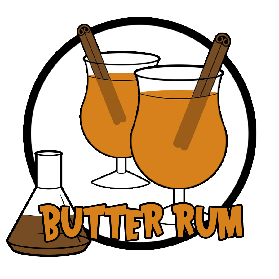Butter ml the mad. Drinking clipart rum