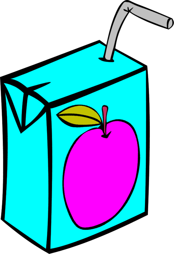 Drinking clipart vector. Juice aplle pencil and