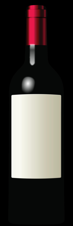 Red whitelabel transparent png. Drinking clipart vintage wine bottle