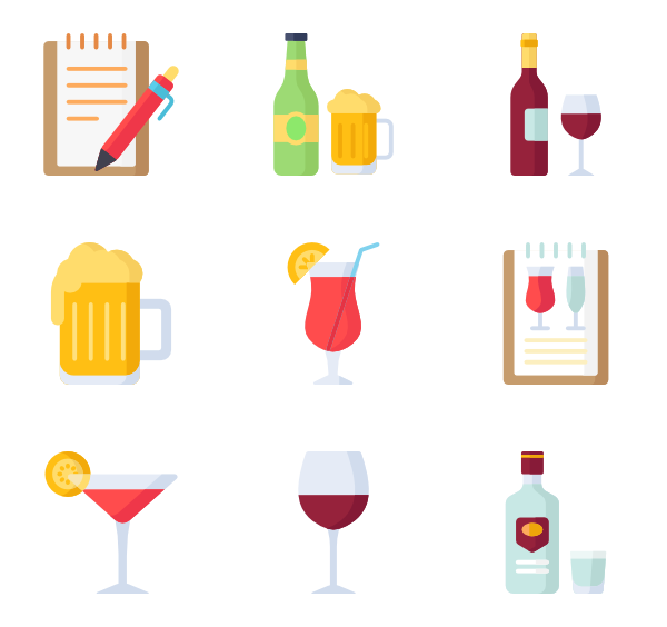 Drinking clipart vodka. Alcohol icons free vector