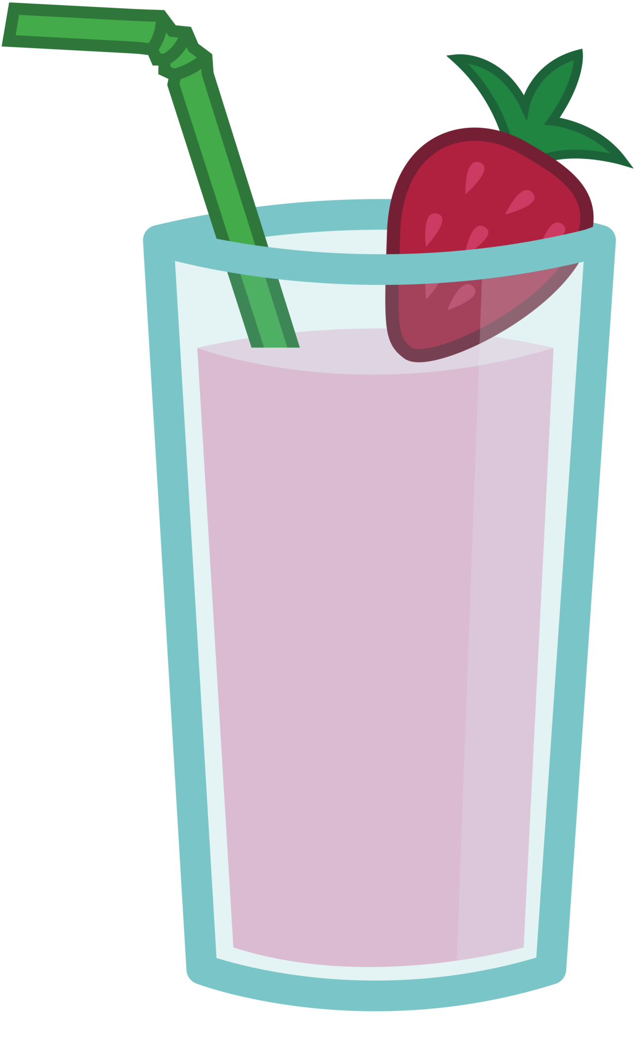 Strawberry and banana smoothie. Drinking clipart welcome drink