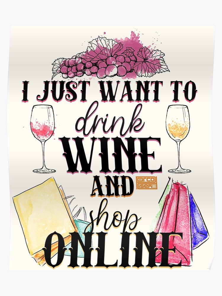 Drinking clipart wine shop. Funny drink online shopping