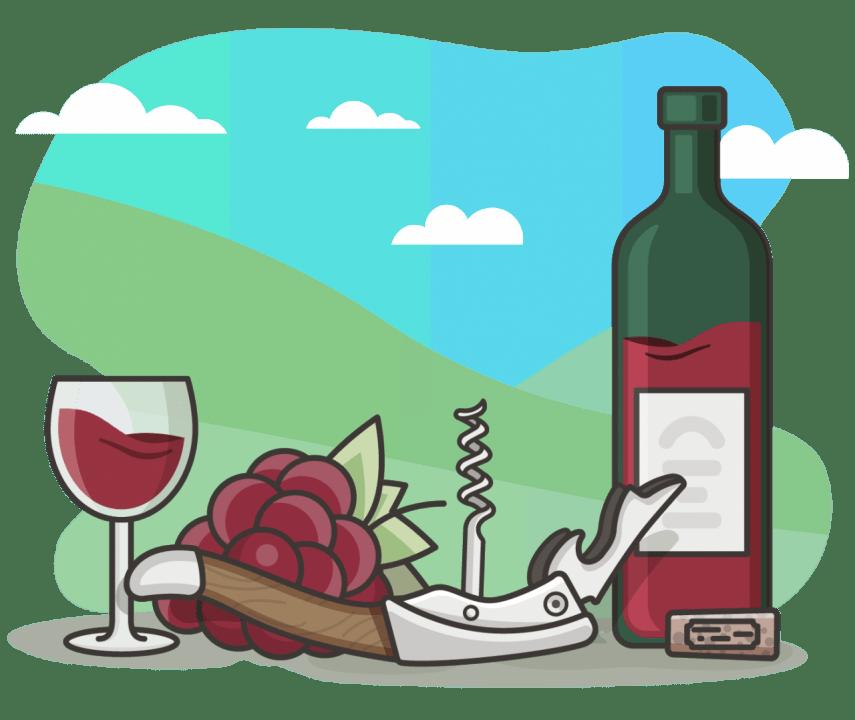Drinking clipart winery. Vineflow innovative social media