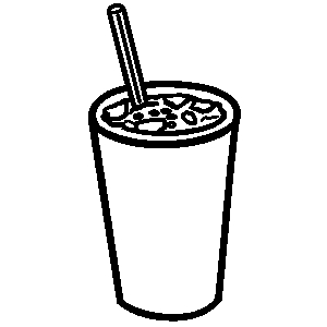 Drink station . Drinks clipart black and white