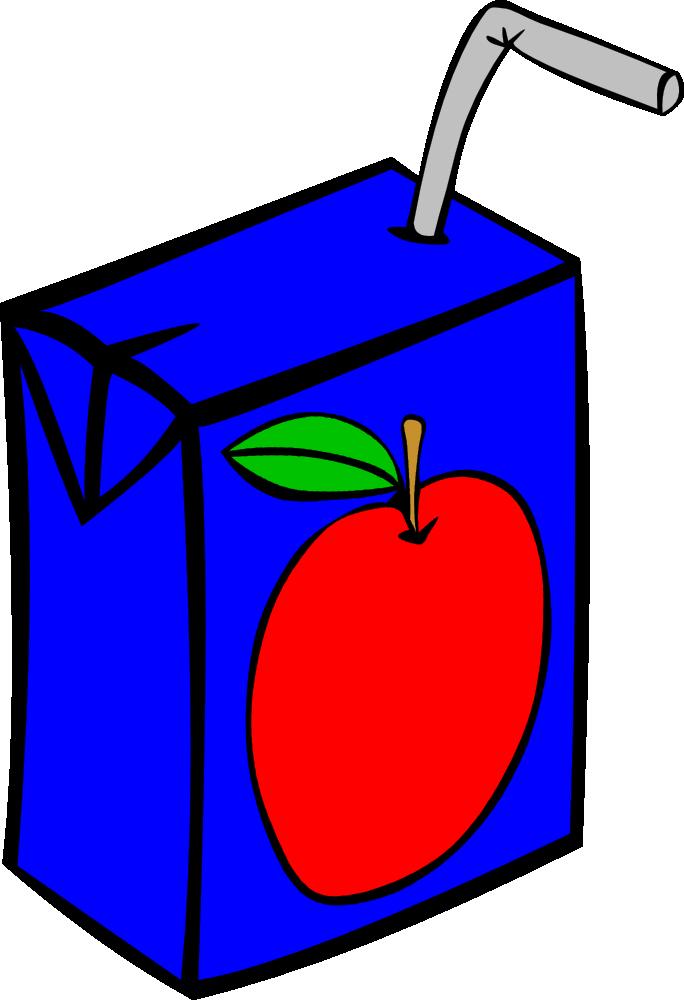 Drinks clipart box. Fast food apple juice