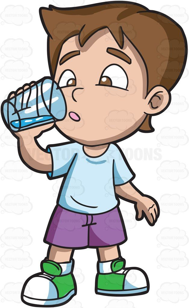 A boy looking curious. Drinks clipart child