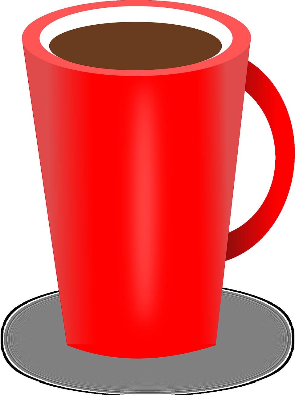 Hot clipart cup joe. Coffee drink tea red