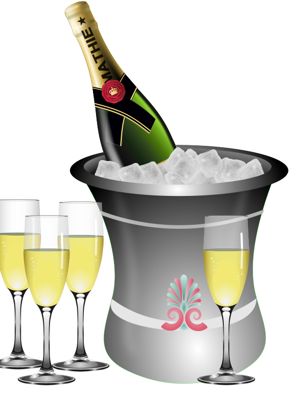 Champaign clipart anniversary party. Champagne bottle free