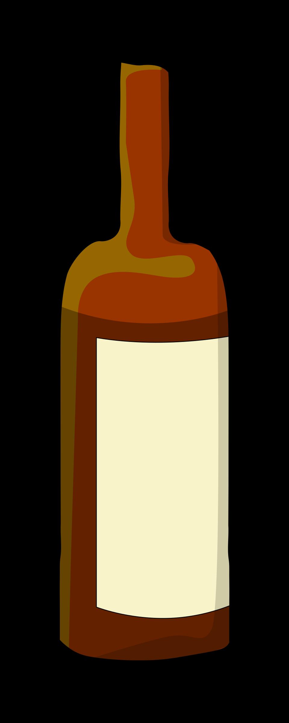 Drinks clipart outline. Wine bottle big image
