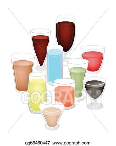 Drinks clipart refreshments. Vector art a set
