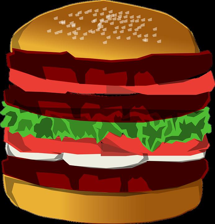 Hamburger pinart vector illustration. Drinks clipart unhealthy food