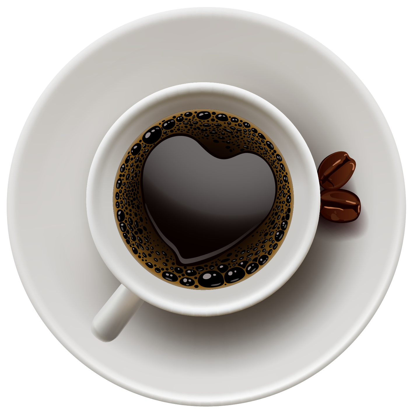 Drinks clipart vector. Coffee cup with heart