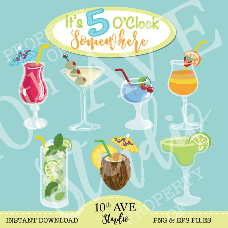 Cocktails summer png eps. Drinks clipart welcome drink