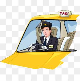 Taxi png vectors psd. Driver clipart
