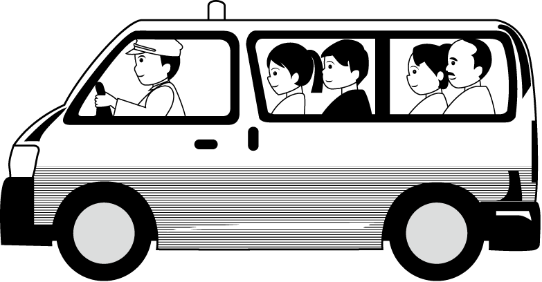 Cab taxi. Driver clipart black and white