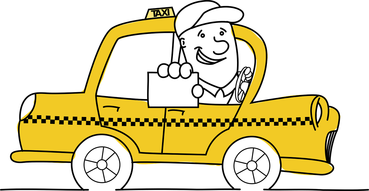 Luxury taxi business cards. Driver clipart cab driver