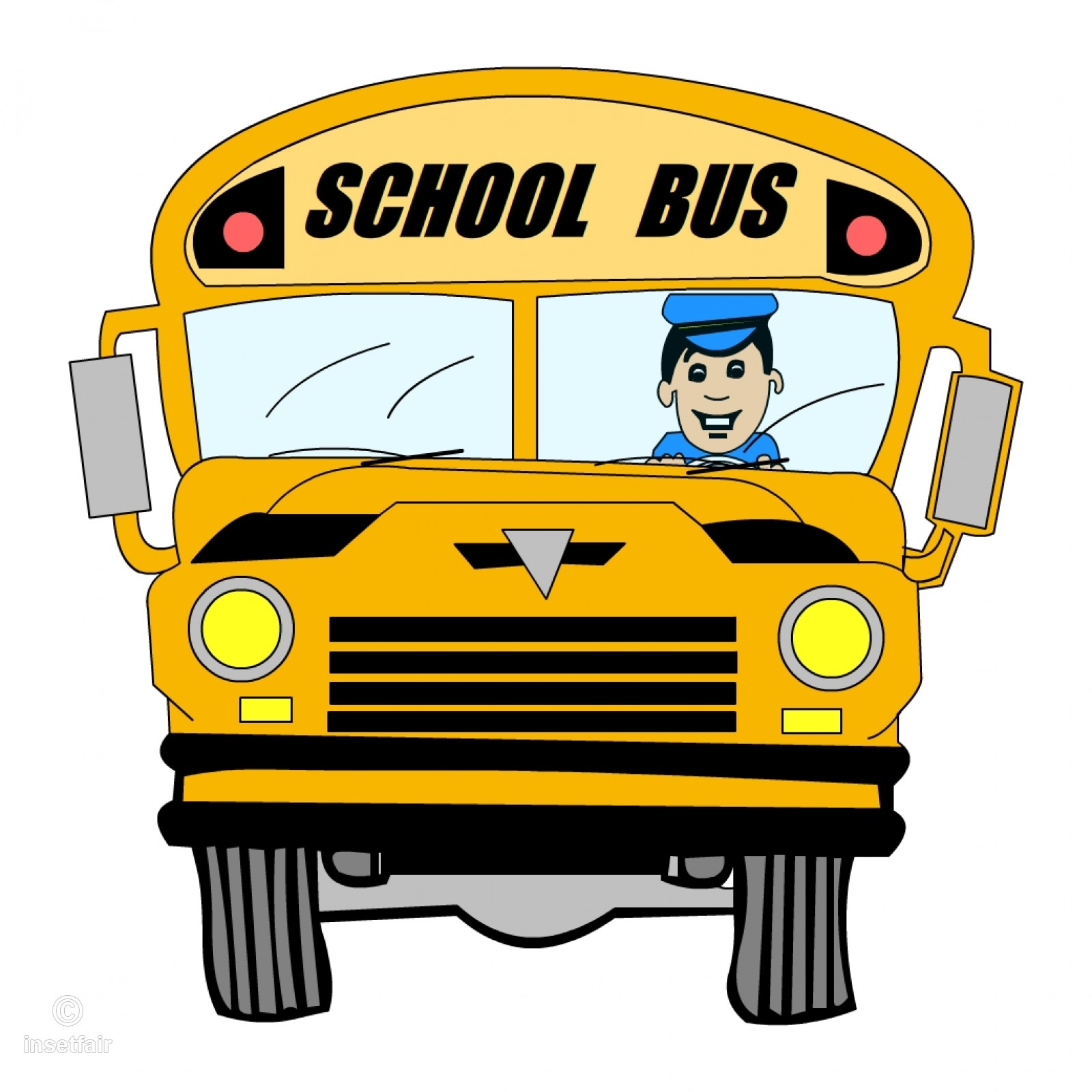 Driver clipart cartoon. School bus with png