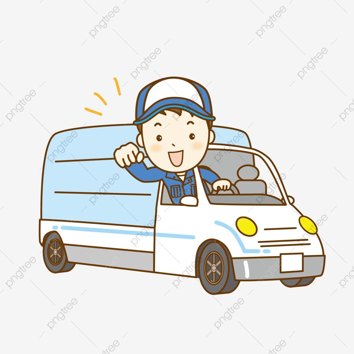 Truck car png . Driver clipart cartoon