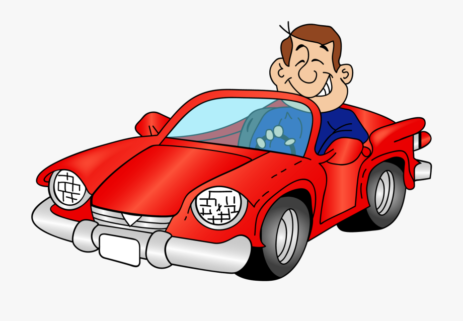 Driver clipart cartoon. Car with a png