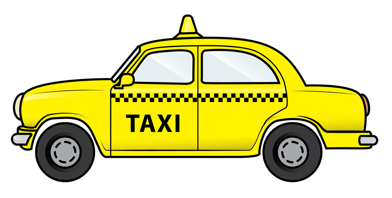Taxi driver cab free. Minivan clipart van shuttle
