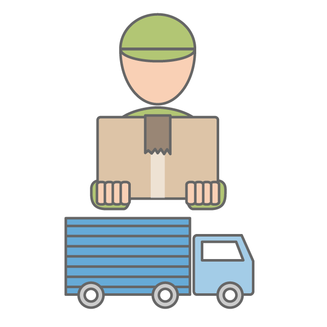 Driver clipart delivery driver. Home track free icon