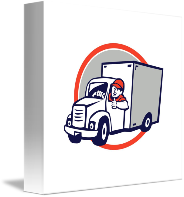 Relax its fedexrunaway van. Driver clipart delivery driver